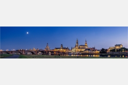 Dresden Canaletto Blick am Abend