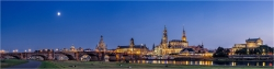 Panoramabild Dresden Canaletto Blick am Abend
