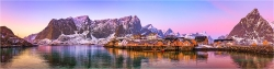 Panoramabild Polartag in Sakrosøy Lofoten Norwegen