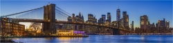 Panoramabild New York USA Brooklyn Bridge und Skyline
