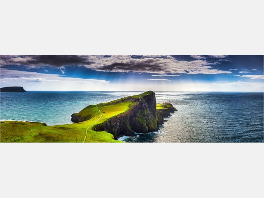 Panoramabild Nest Point Isle of Skye Schottland