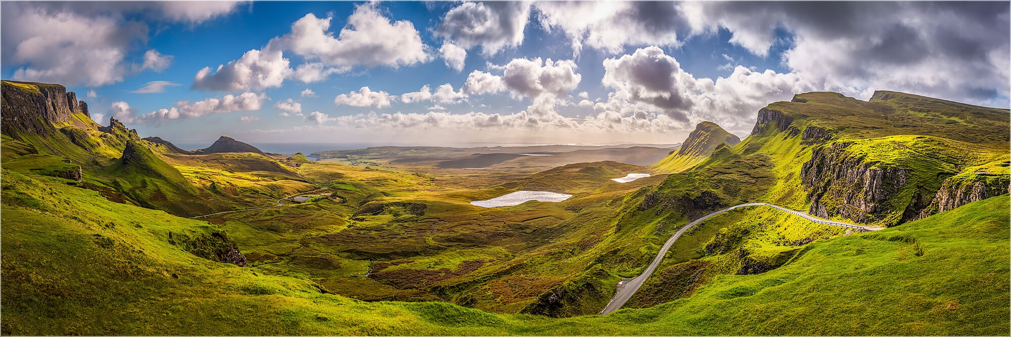 Panoramabild Quiraing Mountains Isle of Skye Schottland
