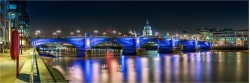 Panoramabild London Southwalk Bridge St. Pauls Cathedral