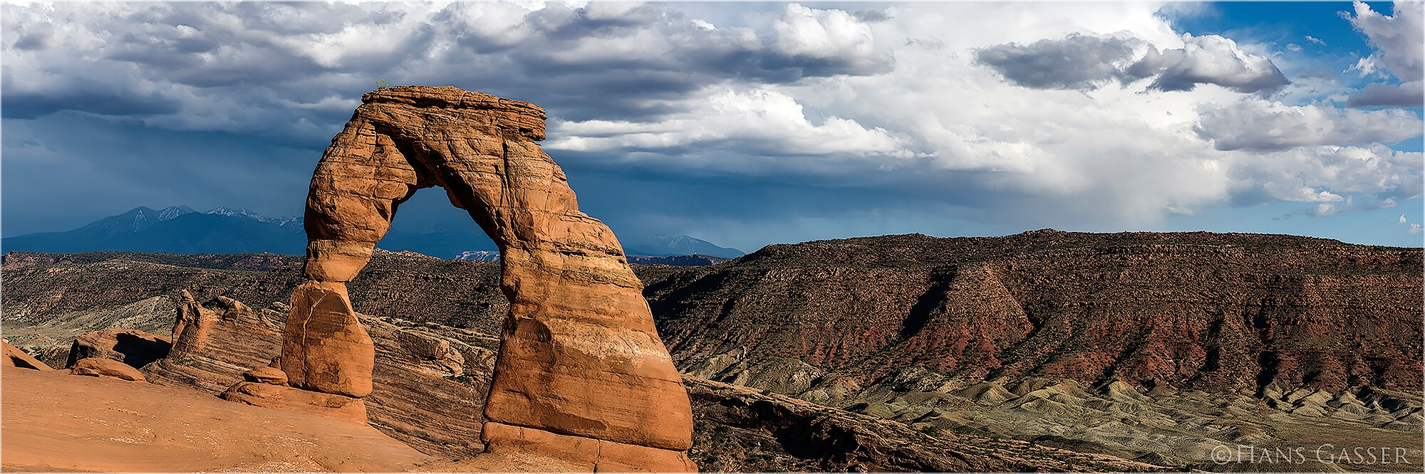 Panoramabild Delicate Arch Arches National Park Utah USA