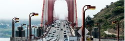 Panoramabild Traffic Golden Gate Bridge San Francisco