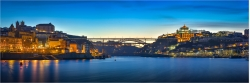 Panoramafoto Sonnenaufgang am Duoro in Porto Portugal