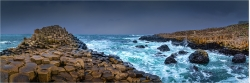 Panoramabild der Giants Causeway in Donegal Irland