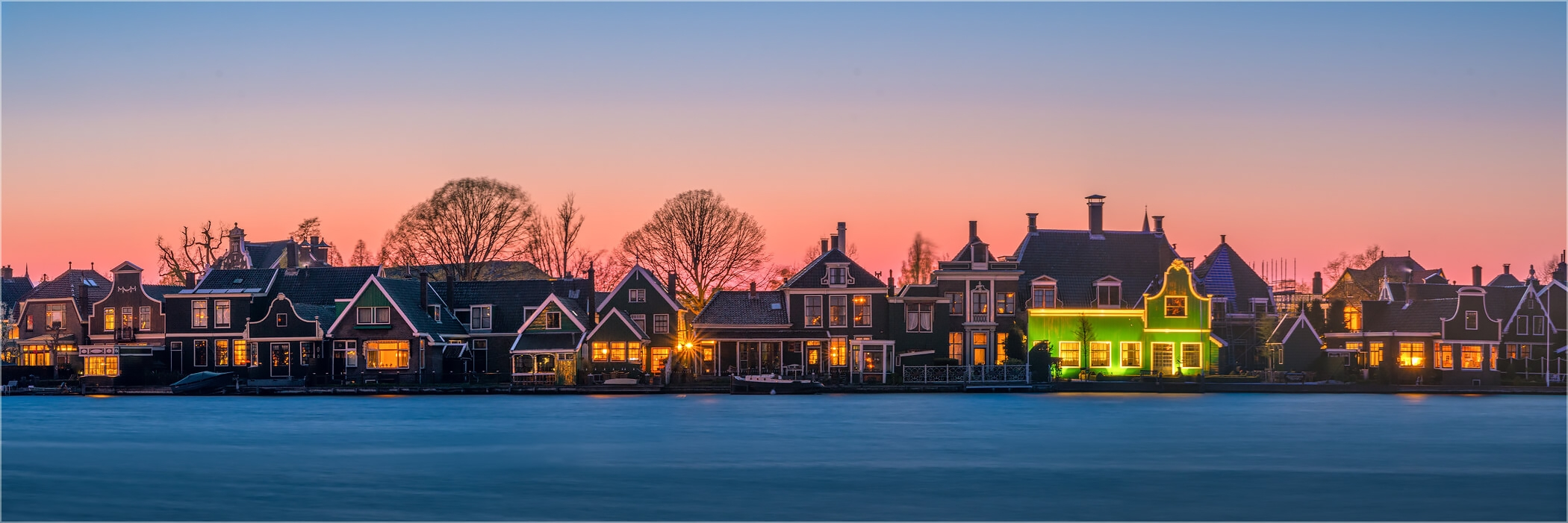 Panoramabild Morgens in Zaandam Holland