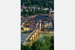 Heidelberg Blick auf Altstadt