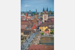 Würzburg Blick in die Stadt