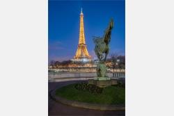 Blick zum Eiffelturm Paris