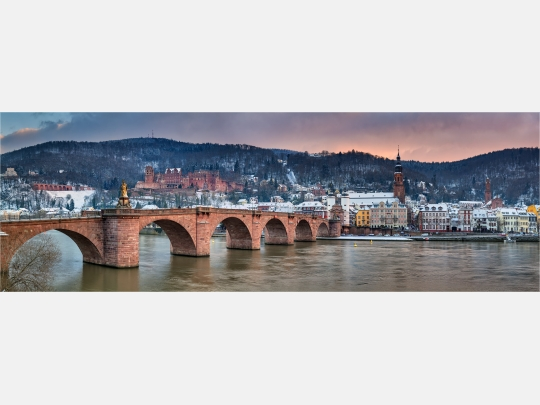 Panoramafoto Heidelberg im Winter