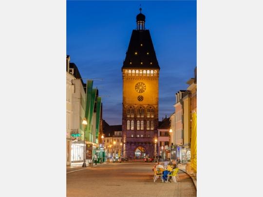 Wandbild Speyer Altpörtel am Abend