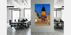 Beispiel Wandbild im Büro als Glas oder Leinwandbild unter Acrylglas und LED Leuchtbild erhältlich