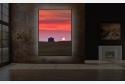 Wohnbeispiel dimmbares LED Acrylglas Wandbild mit austauschbarem Motiv