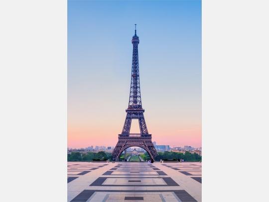 Wandbild Paris Eiffelturm am Morgen