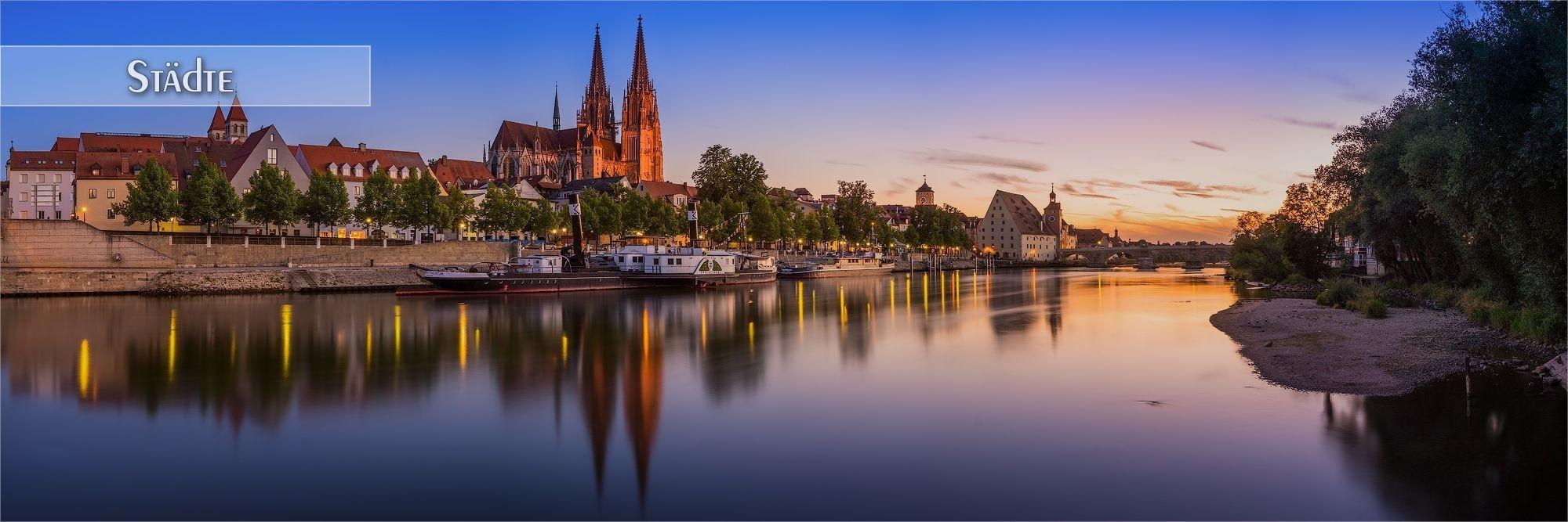 Bilder deutscher Städte als Wandbild oder Küchenrückwand