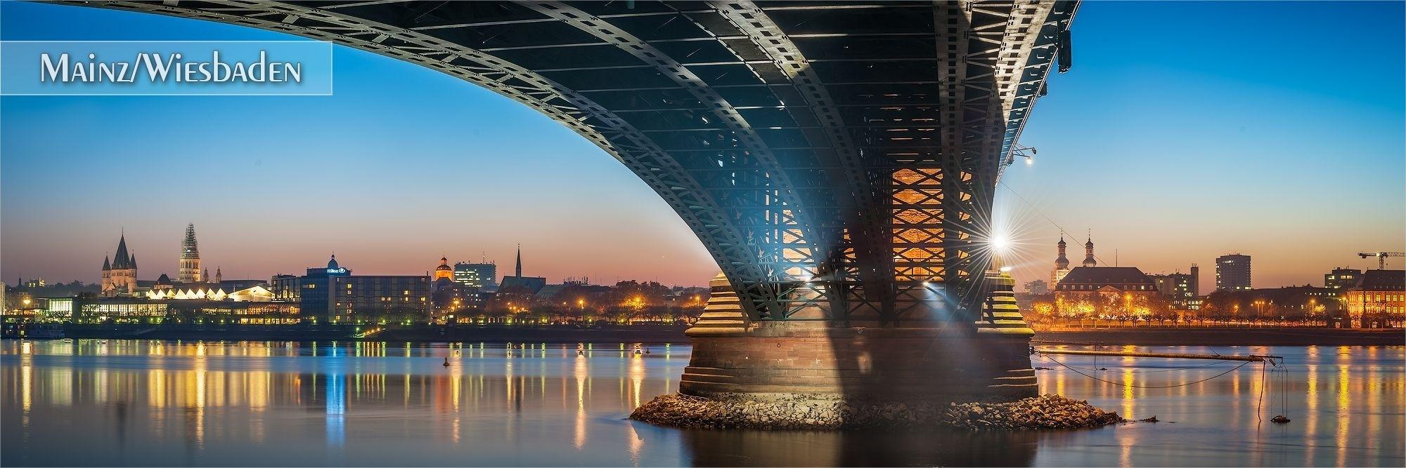 Bilder aus Mainz und Wiesbaden als Wandbild oder Küchenrückwand